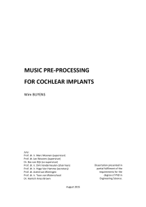 Thumbnail of Music Pre-Processing for Cochlear Implants