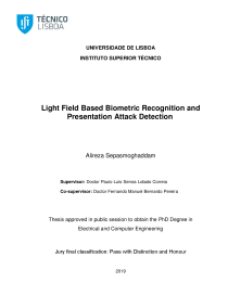 Thumbnail of Light Field Based Biometric Recognition and Presentation Attack Detection