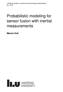 Thumbnail of page 1 of Probabilistic modeling for sensor fusion with inertial measurements