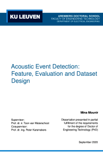 Thumbnail of Acoustic Event Detection: Feature, Evaluation and Dataset Design