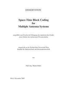 Thumbnail of Space-Time Block Coding for Multiple Antenna Systems