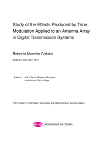 Thumbnail of Study of the Effects Produced by Time Modulation Applied to an Antenna Array in Digital Transmission Systems