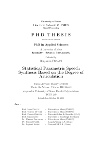 Thumbnail of Statistical Parametric Speech Synthesis Based on the Degree of Articulation