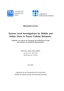 Thumbnail of System Level Investigations for Mobile and Indoor Users in Future Cellular Networks