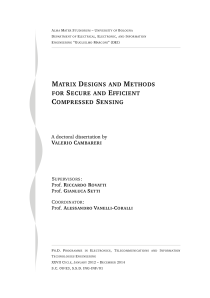 Thumbnail of Matrix Designs and Methods for Secure and Efficient Compressed Sensing