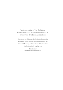 Thumbnail of Implementation of the radiation characteristics of musical instruments in wave field synthesis applications
