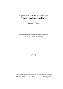 Thumbnail of page 3 of Sparsity Models for Signals: Theory and Applications