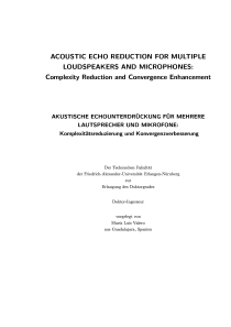 Thumbnail of page 1 of Acoustic echo reduction for multiple loudspeakers and microphones: Complexity reduction and convergence enhancement