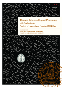 Thumbnail of Domain-informed signal processing with application to analysis of human brain functional MRI data