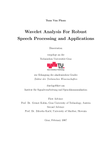 Thumbnail of Wavelet Analysis For Robust Speech Processing and Applications