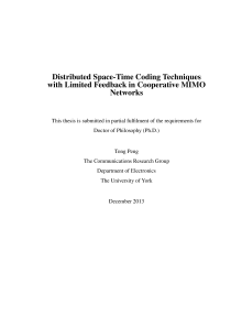 Thumbnail of Distributed Space-Time Coding Techniques with Limited Feedback in Cooperative MIMO Networks