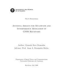 Thumbnail of page 1 of Antenna Arrays for Multipath and Interference Mitigation in GNSS Receivers