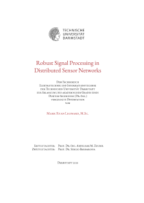 Thumbnail of page 3 of Robust Signal Processing in Distributed Sensor Networks