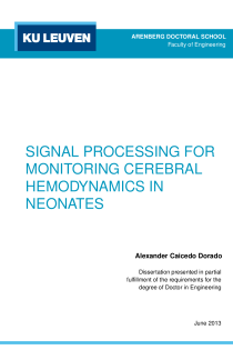 Thumbnail of Signal processing for monitoring cerebral hemodynamics in neonates