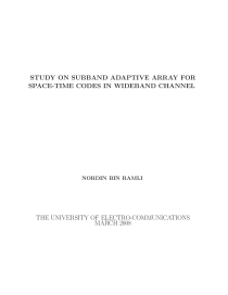 Thumbnail of Study on Subband Adaptive Array for Space-Time Codes in Wideband Channel