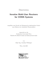 Thumbnail of page 1 of Iterative Multi-User Receivers for CDMA Systems