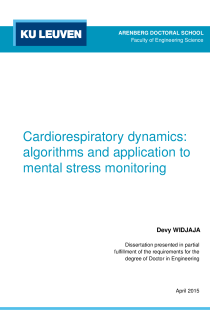 Thumbnail of Cardiorespiratory dynamics: algorithms and application to mental stress monitoring