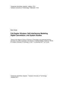 Thumbnail of page 2 of Full-Duplex Wireless: Self-interference Modeling, Digital Cancellation, and System Studies