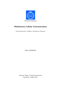 Thumbnail of Multiantenna Cellular Communications: Channel Estimation, Feedback, and Resource Allocation