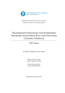 Thumbnail of Transmission Strategies for Interfering Networks with Finite Rate and Outdated Channel Feedback