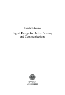 Thumbnail of page 4 of Signal Design for Active Sensing and Communications