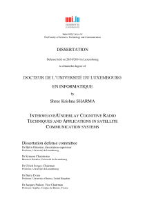 Thumbnail of Interweave/Underlay Cognitive Radio Techniques and Applications in Satellite Communication Systems