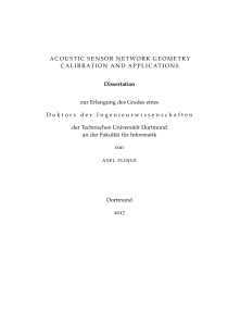 Thumbnail of Acoustic sensor network geometry calibration and applications
