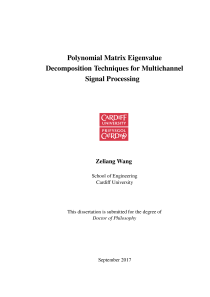Thumbnail of page 1 of Polynomial Matrix Eigenvalue Decomposition Techniques for Multichannel Signal Processing