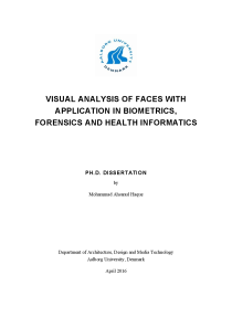 Thumbnail of page 1 of Visual Analysis of Faces with Application in Biometrics, Forensics and Health Informatics