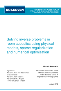 Thumbnail of Solving inverse problems in room acoustics using physical models, sparse regularization and numerical optimization
