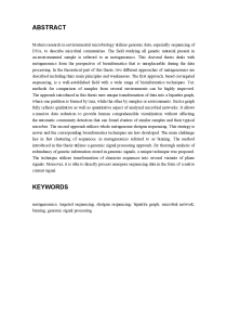 Thumbnail of page 2 of Methods for Comparative Analysis of Metagenomic Data