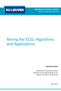 Thumbnail of page 1 of Mining the ECG: Algorithms and Applications