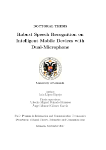Thumbnail of Robust Speech Recognition on Intelligent Mobile Devices with Dual-Microphone