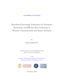 Thumbnail of Distributed Processing Techniques for Parameter Estimation and Efficient Data Gathering in Wireless Communication and Sensor Networks