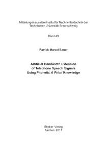 Thumbnail of page 3 of Artificial Bandwidth Extension of Telephone Speech Signals Using Phonetic A Priori Knowledge