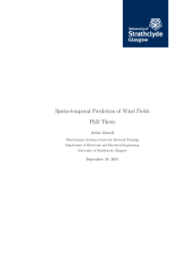 Thumbnail of Spatio-temporal Prediction of Wind Fields