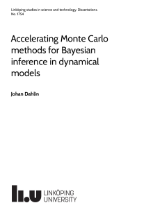 Thumbnail of Accelerating Monte Carlo methods for Bayesian inference in dynamical models