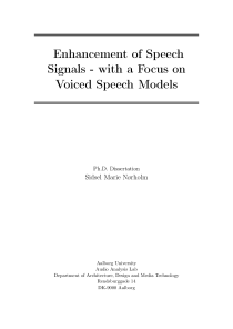 Thumbnail of Enhancement of Speech Signals - with a Focus on Voiced Speech Models