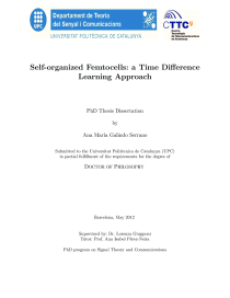 Thumbnail of Self-organized Femtocells: a Time Difference Learning Approach