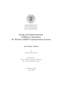 Thumbnail of Design and Implementation of Efficient Algorithms for Wireless MIMO Communication Systems