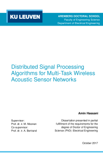 Thumbnail of Distributed Signal Processing Algorithms for Multi-Task Wireless Acoustic Sensor Networks