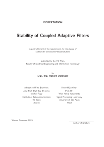 Thumbnail of Stability of Coupled Adaptive Filters
