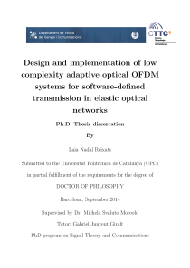 Thumbnail of Design and implementation of low complexity adaptive optical OFDM systems for software-defined transmission in elastic optical networks