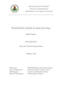 Thumbnail of Transformation methods in signal processing