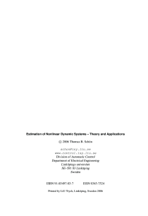 Thumbnail of page 2 of Estimation of Nonlinear Dynamic Systems: Theory and Applications