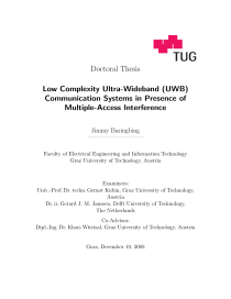 Thumbnail of Low Complexity Ultra-Wideband (UWB) Communication Systems in Presence of Multiple-Access Interference