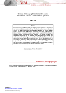 Thumbnail of page 1 of Energy Efficiency Optimization and Resource Allocation in Wireless Communication Systems
