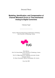 Thumbnail of Modeling, Identification, and Compensation of Channel Mismatch Errors in Time-Interleaved Analog-to-Digital Converters