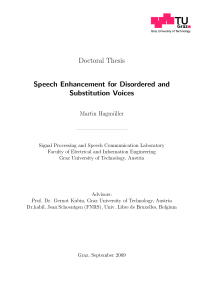 Thumbnail of Speech Enhancement for Disordered and Substitution Voices