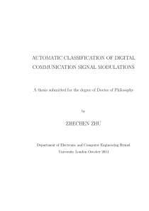 Thumbnail of page 1 of Automatic Classification of Digital Communication Signal Modulations